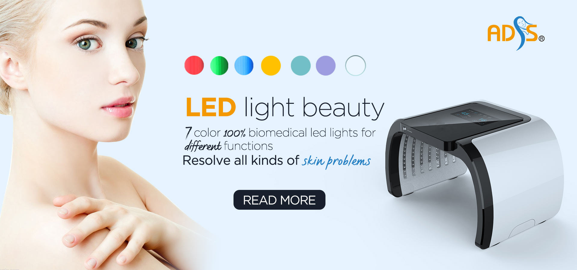 Skin Rejuvenation PDT LED Light Facial Therapy Beauty